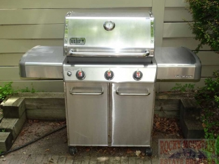 Weber Genesis SS Gas Grill w/ Cover.