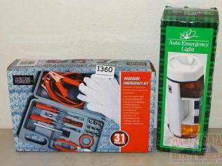 Car Tool Lit & Emergency Light.