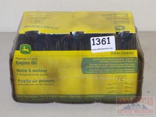 6 Bottles John Deere 2-Cycle Oil.