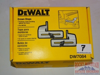 Dewalt DW7084 Crown Stops.  Appear New.