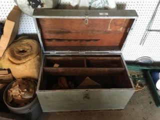 Old Wood Tool Chest