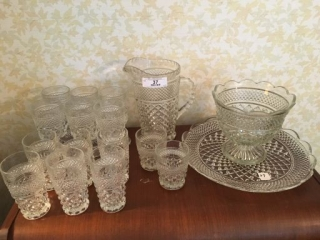 Lot of Pressed Glass