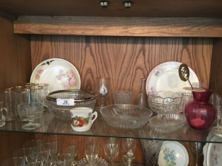 Contents of Top Shelf of China Cabinet