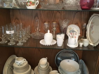 Contents of Middle Shelf of China Cabinet
