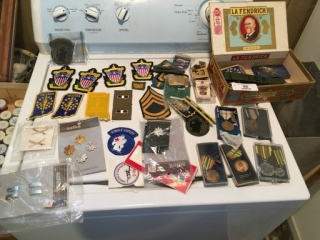 Assorted Military Patches, Pins, Miscellaneous