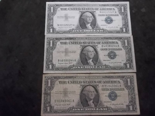 3-US Silver Certificates Series 1957 A