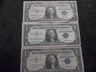 3-US Silver Certificates Series 1957