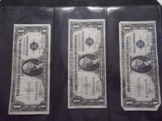 3-US Silver Certificates Series 1935 C
