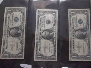 3-US Silver Certificates Series 1957 A & B