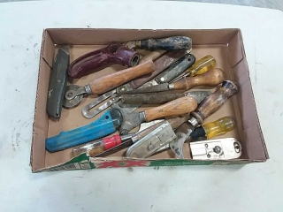 assortment of scrappers and punches
