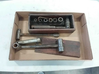 assortment of wrenches and sockets