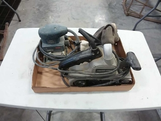 Porter Cable belt sander, Bosch palm sander
