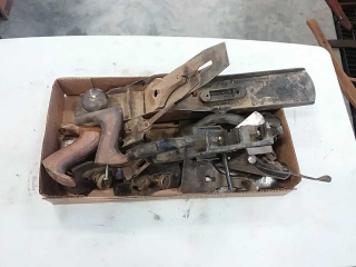 assortment of wood planes