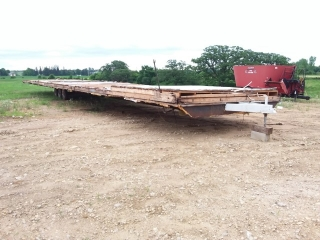 63' x 13 1/2' Tri axle trailer house frame