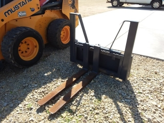 "Homemade HD universal skid loader forks, 42"" forks"