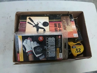 band clamp, work gloves, tape measure
