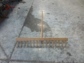 wooden rake
