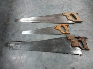 assortment of hand saws