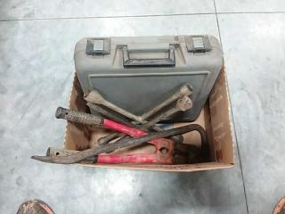 empty tool box, hand tools