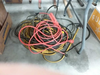 assortment of extention cords
