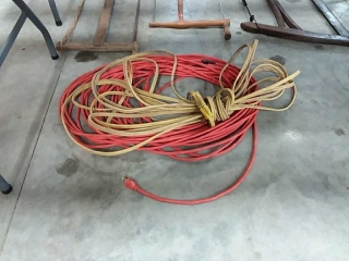 assortment of extension cords
