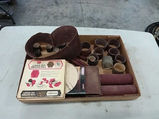 assortment of sand paper rolls