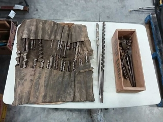 assortment of drill bits