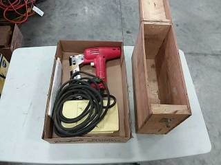 electric brad nailer with  homemade box