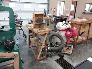 Disc sander on homemade stand