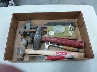 assortment of hammers
