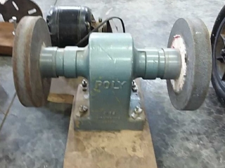 Poly Bench grinder with electric motor