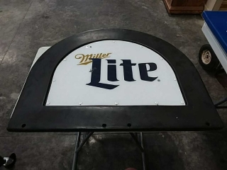 Plastic Miller Lite sign