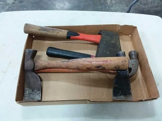 Assortment of hammers and hatchets