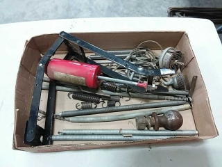 assortment of springs, pump, cable
