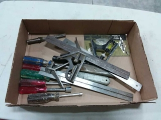 assortment of hand tools - nut drives, knives,