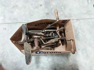 assortment of hand drills