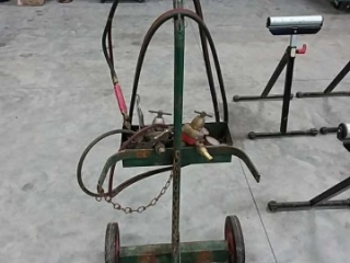 2 wheel torch cart - with hose and gauges