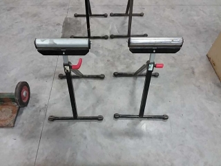 set of 2 wolfcraft rollers stands