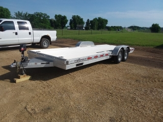 2016 Featherlite 7'x22' Aluminum flatbed trailer
