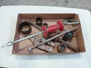 assortment of auto body tools