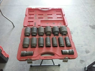 "T&E Tools Deep well socket set 3/4"" - 2"""