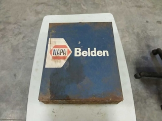 Napa Belden tool box, full of battery parts
