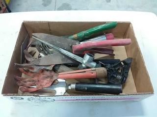 assortment of hand tools garden tools
