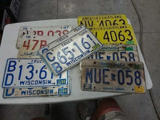 assortment of license plates