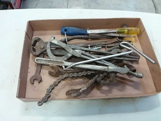 assortment of handtools and wrenches