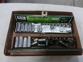 2 S-K socket sets not complete