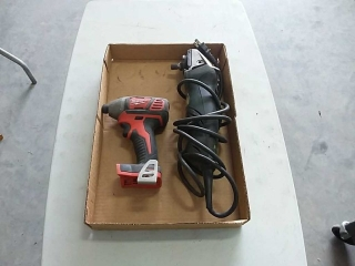 Milwaukee cordless screw gun, Metabo angle grinder