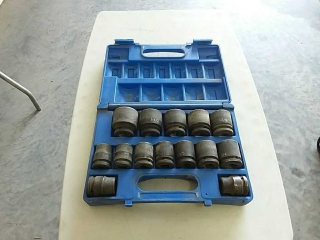 "GP impact socket set 3/4"" -1 5/8"""