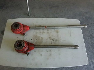 2 Ridgid hand threaders with dies