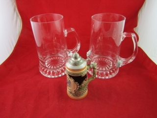 Stein : Pair of  Krosno glass and a German pottery